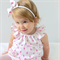 Sparkling Fairies Flutter Sleeve Dress with bow headband