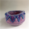 Round embellished felt jewellery bowl. One of a kind.