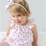 Sparkling Fairies Flutter Sleeve Dress with bow headband - size 2
