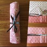 Cutlery Roll - hearts