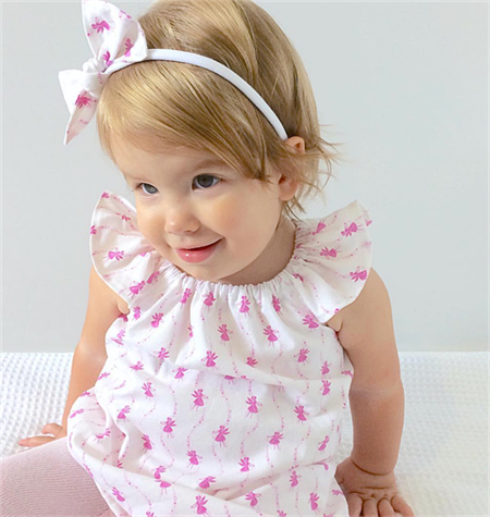 Sparkling Fairies Flutter Sleeve Dress with bow headband - size 2
