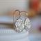 Sterling Silver Rose Relic Hook Earrings.