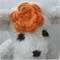 Handmade Crochet Baby Headband.  (Orange)