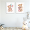 """Teddy Bear"" Children's Wall Art Prints - Set of 2"