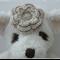 Handmade Crochet Baby Headband.  (Cream)