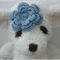 Handmade Crochet Baby Headband.  (Blue)