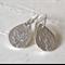 Sterling Silver Maple Leaf Teardrop Hook Earrings.
