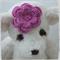 Handmade Crochet Baby Headband.  (Purple)