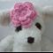 Handmade Crochet Baby Headband.  (Pink)