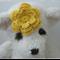 Handmade Crochet Baby Headband.  (Dark Yellow)