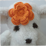 Handmade Crochet Baby Headband.  (Orange)
