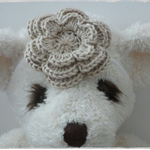 Handmade Crochet Baby Headband.  (Cream)
