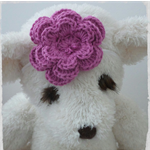 Handmade Crochet Baby Headband.  (Purple)