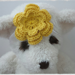 Handmade Crochet Baby Headband.  (Dark Yellow)
