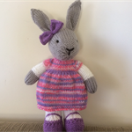 Rebecca Bunny Hand knitted Toy Softie