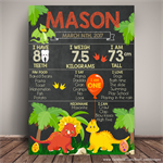 DINOSAUR Themed 1st Birthday Milestone Keepsake Print DIGITAL PDF