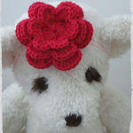 Handmade Crochet Baby Headband.  (Red)
