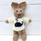 Amos the  Hand Knitted Bunny Rabbit Toy with Cream Whale Jumper