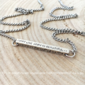 Mothers Day Gift, Coordinates Necklace, Hand Stamped Bar Jewellery, Gift For Her