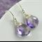Amethyst Earrings,Moss Amethyst Earrings,Sterling Silver ,February birthstone