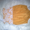 Mustard and Lace Teaparty Romper Baby Girls Toddler