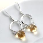 Citrine Earrings, Gemstone Earrings, Sterling Silver, November birthstone