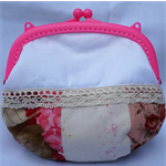 Pink & White Everyday Purse/Makeup/Coin etc.