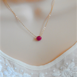 Ruby Necklace, July birthstone, gold filled, wire wrapped necklace