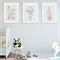 """Whimsical Bunny"" (Blue) Children's Wall Art Prints - Set of 3"