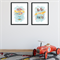 """Up, Up and Away...Fly me to the Moon"" Children's Wall Art Prints - Set of 2"