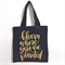 "Canvas Tote - Shopping - ""Bloom Where You Are Planted"" - Free Postage"