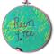 """Run Free"" hoop art pair"