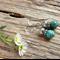 Blue Crazy Lace Agate Gemstone & Tibetan Bead Earrings