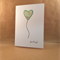 Heart Balloon Card - Any Occasion - Just For You - Upcycled Road Maps - Handmade