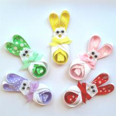 Easter bunny ribbon hair clip