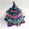 Unique 6-8 cup embellished crochet tea cosy. Brightly coloured.