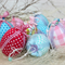 Set of 10 Fabric covered Easter Eggs.. make an Easter Egg  tree table decoration