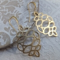 Gold Organic Pendants with Tall French Nickel Free Hooks