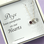 Personalized Dog Lover Paw Print Necklace,Dog Necklace,Pet Rememberance Necklace
