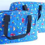 Vroom in Navy Blue - Tote Bag