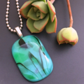 Flora Fused Glass Pendant