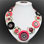 Beaut Buttons - Think PInk button necklace