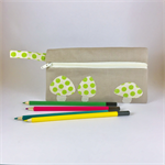 Pencil Case - Linen Mushrooms