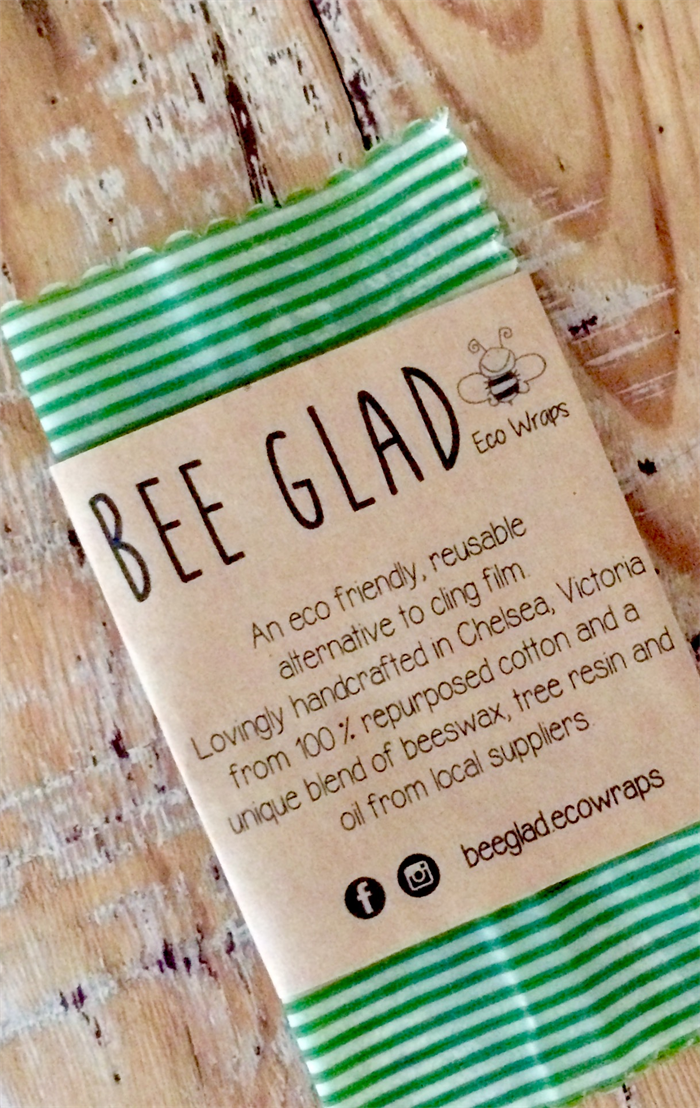 Small - Beeswax Reusable Food Wrap | Bee Glad on Madeit