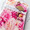 Floral peony pink gold glitter flamingo happy birthday pretty her card