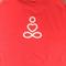 Yoga Singlet - Size 14 - Orange Thin Strap Singlet White Print