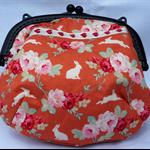 BLACK & ORANGE great little purse for everyday.