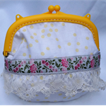 YELLOW LACE perfect for  an everyday make up purse.