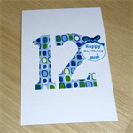 Personalised Birthday card - blue - any age!
