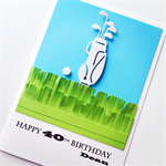 Happy Birthday LARGE custom 18 21 30 40 50 60 70 80 golf sport him friend card